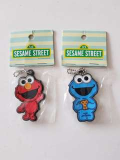 Elmo/cookie monster key chain and magnet