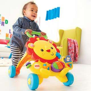 Fisher-Price Musical Lion Baby Walker, Retail PRICE: Rm180, Brand New, Baby toy, gift
