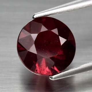1.97ct Round Brilliant Natural Purplish Pink Rhodolite Garnet