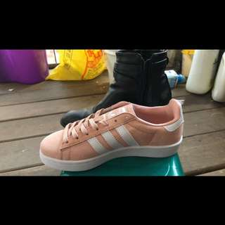 Adidas original campus 粉  NG鞋  39碼一雙