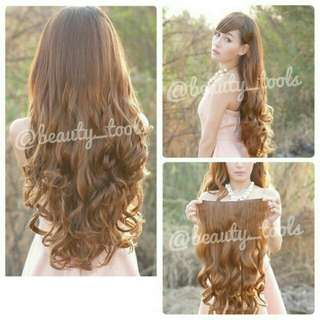 Hairclip curly biglayer keriting 60-70cm human