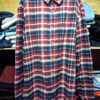 Checkered Long Sleeve Polo (MEN's)