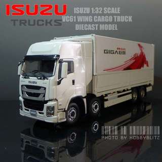 Brand new 1:32 Scale Isuzu Wing Cargo Truck 2017 Diecast Model VC61 - NOT REMOTE CONTROLLED