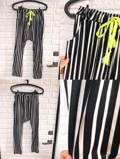 彈性條紋褲
