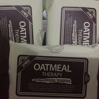 Calmia Oatmeal Therapy Cleansing Tissue