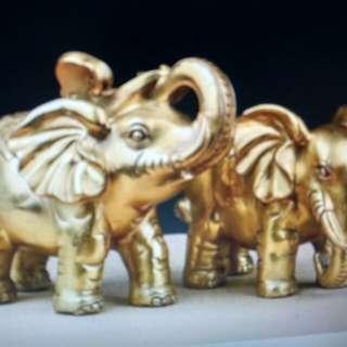 全銅招財大象(長30x寬17×高25cm,空心)