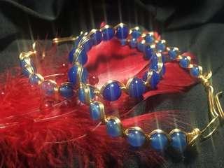 手工飾品天海之心藍瑪瑙能量手環系列:天仙與海神的愛戀,原價1420,特價710