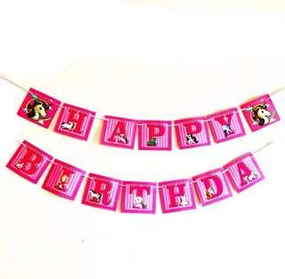 🌈 Unicorn theme party supplies - birthday banner / bunting / birthday party deco