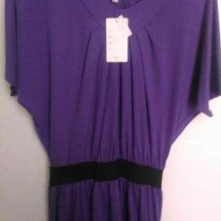 Details dress warna ungu