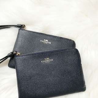 Coach Zip Wristlet in Midnight