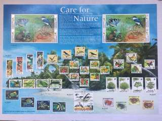 Singapore 2000 wetland wildlife collector sheet mnh
