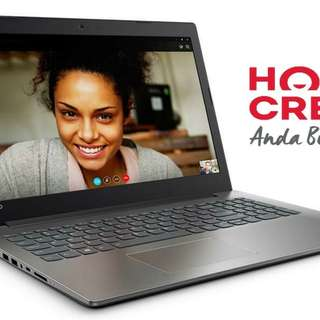 Kredit Laptop Lenovo IP320 A9/1TB/4GB Free 1x Cicilan
