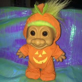 超大 巨魔怪 萬聖節 幸運小子 troll doll