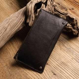 輕薄拉鍊長夾 森林色系 禮物 可放手機