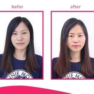 Clip-on wig