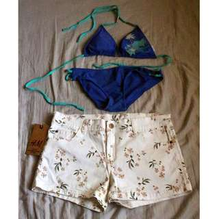 Two-piece swimsuit (shorts included!)