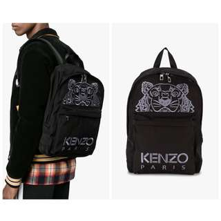 AUTHENTIC KENZO Large Tiger Backpack Black