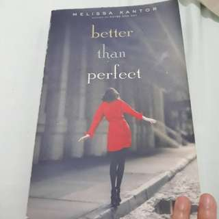 Better than Perfect by Melissa Kantor