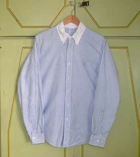Authentic Brooks Brothers Stripe Oxford Button Down Shirt