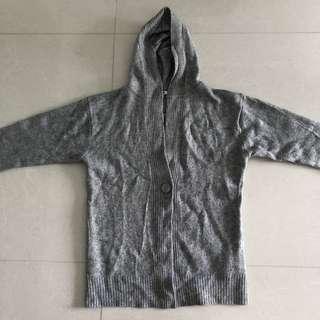 Uniqlo Grey Wool Hoodie