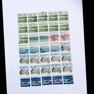 1990 S'pore Old Stamps