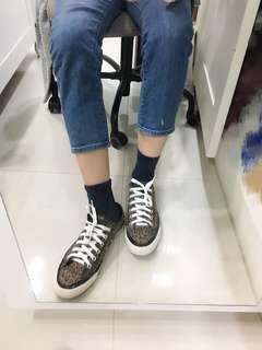 【二手】Converse 豹紋低筒帆布鞋