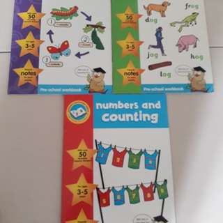 English Phonics/ Science/ Maths Workbooks x3 Age 3-5
