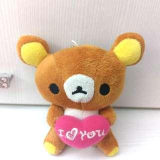 鬱悶小啦啦熊吊飾