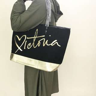 新品 VS Victoria's Secret維多利亞的秘密 帆布包 單肩包