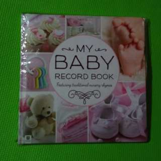 Baby Record Book Pink