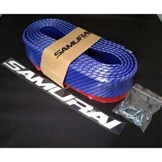 Bumper Samurai Lip For Car Proctection & Beautify (Blue CF)