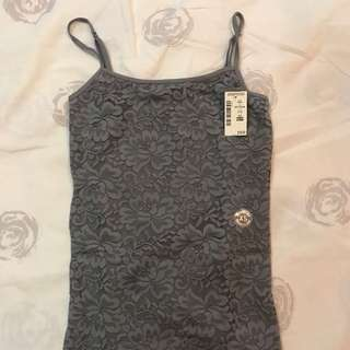 Aeropostale gray floral cami XS