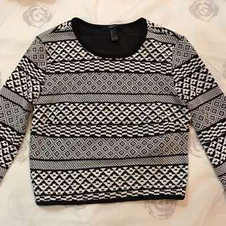 Forever 21 aztec sweater SMALL