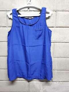 Royal Blue Silk Sleeveless