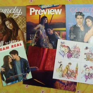 Team Real book. Mags w/ Jadine poster and postcards