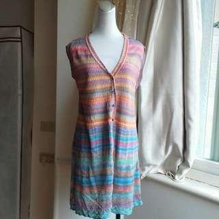 日本製 夏日多彩針織長背心