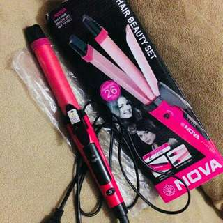 NOVA 2in1 Hair Iron and Curler