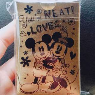 Disney 米奇米妮金箔撲克牌