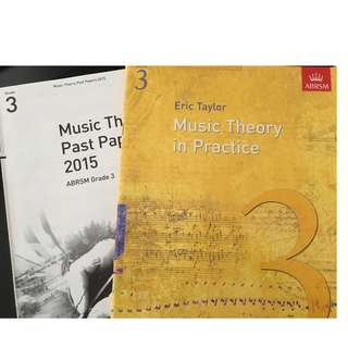 Grade 3 Music Theory in Practice Eric Taylor ABRSM Exam Theory Past Year Paper 2015