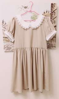 PAZZO高雅蕾絲領公主風洋裝
