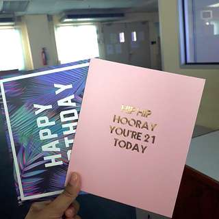 Typo Birthday Cards 2 for RM 10