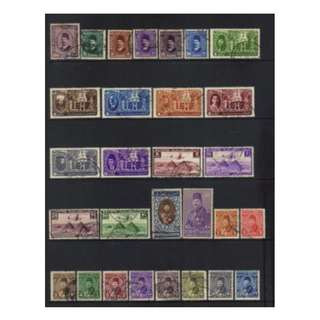 EGYPT Old 1927-1946 USED SELECTION BL554