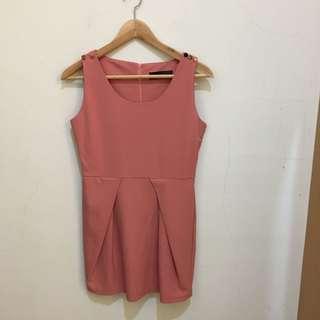 韓國製 粉色洋裝👗