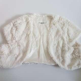 Girls Fur Poncho