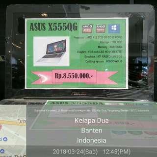 Laptop Asus X555QG nego + bisa kredit
