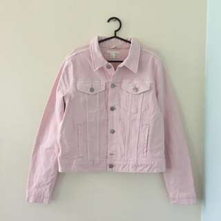 BNWOT H&M Blush Denim Jacket