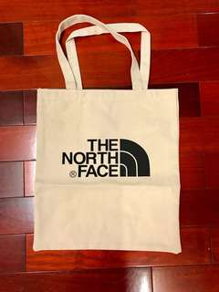 The north face 厚磅帆布袋 附紙袋 大學生上課 環保袋 超有質感