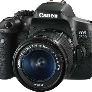 Kredit Kamera DSLR Canon Eos 750D