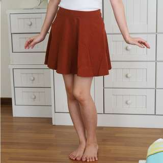 [USED] Forever21 Copper brown A-line mini Skirt