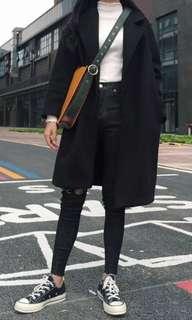 韓版黑色大衣